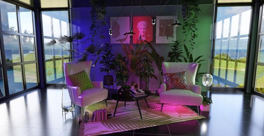 vapowave tropical  Interior Design Render