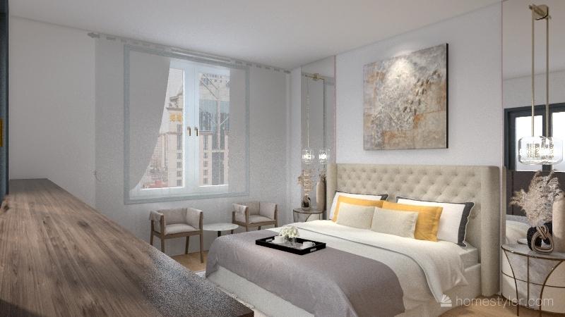 غرفه نوم Interior Design Render