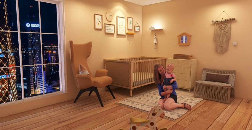 Nursery Room Interior Design Render