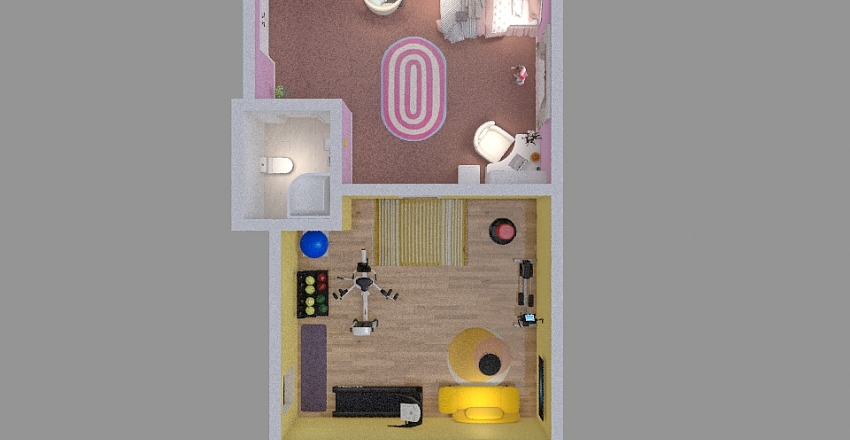 Girl Room Age 4-10 Interior Design Render