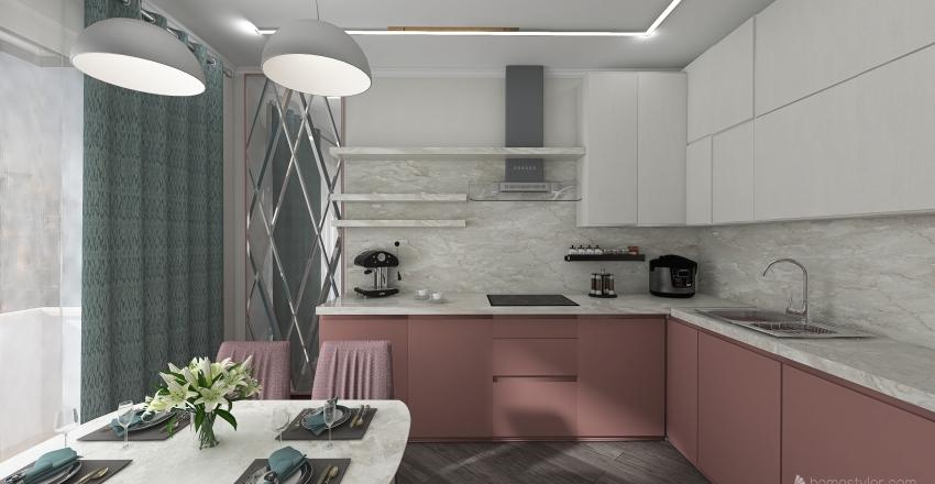 Королев план 4 КУХНЯ В4 Interior Design Render