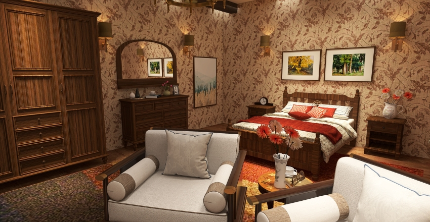 Residential - Country House Interior Design Render