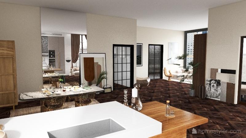 luxurius apartment Interior Design Render
