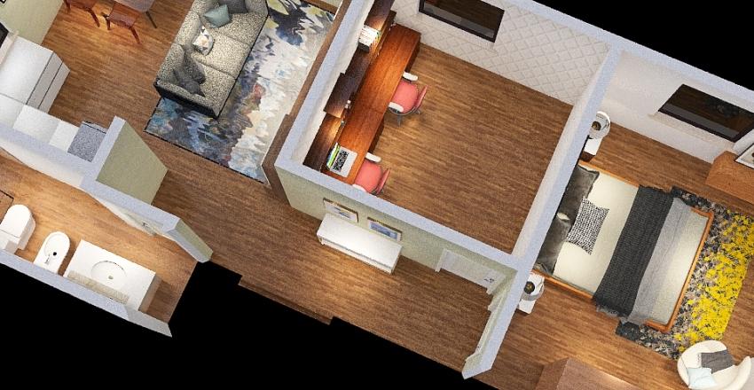 modifica a piantina base casa Federico Interior Design Render