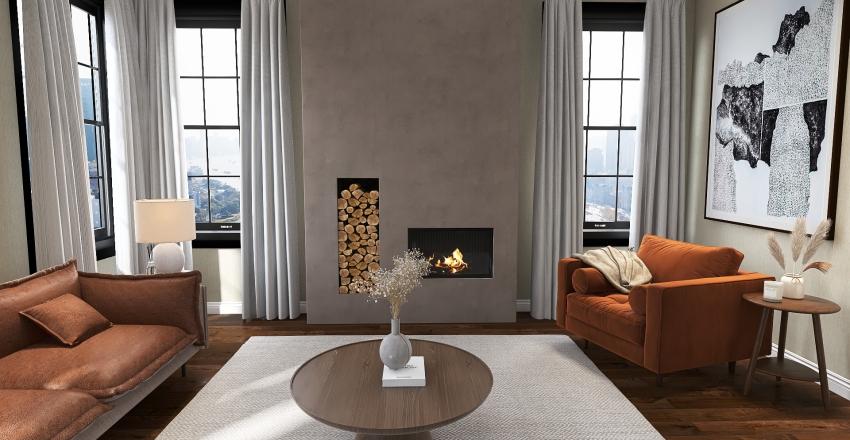 Chic Apartment Interior Design Render