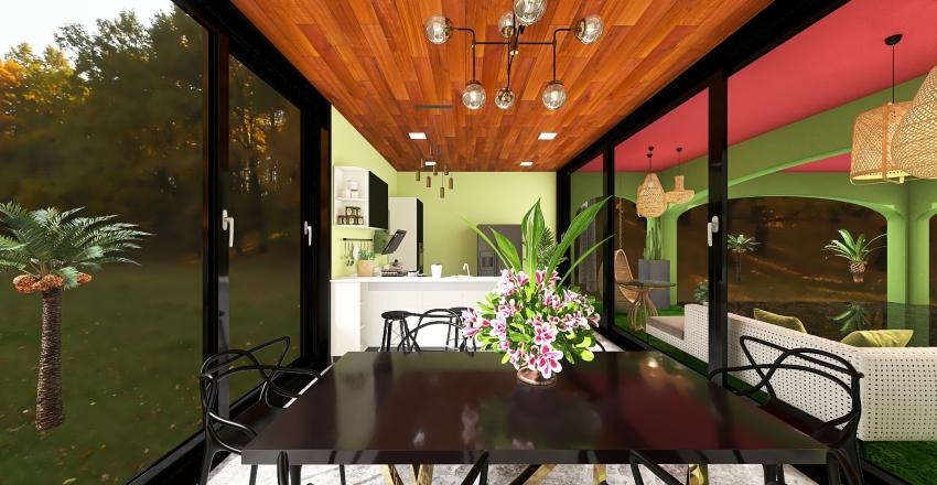 Casa de Vidro Interior Design Render