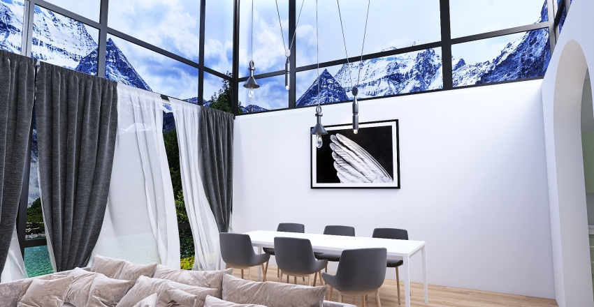 Simple but modern Interior Design Render