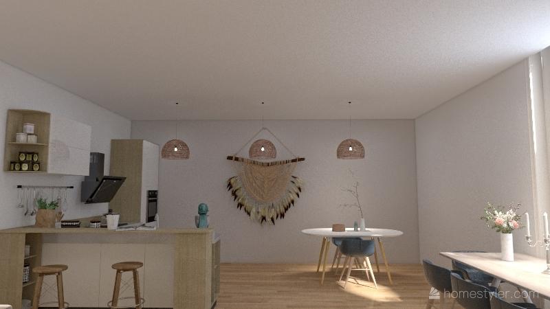 - earthy tones - Interior Design Render