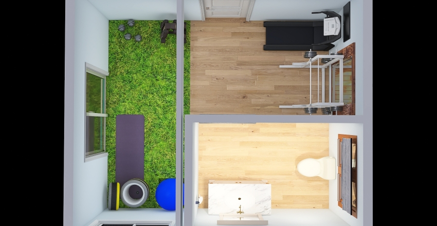 home gym Interior Design Render