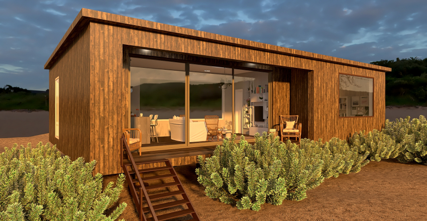 Beach Shack  Interior Design Render