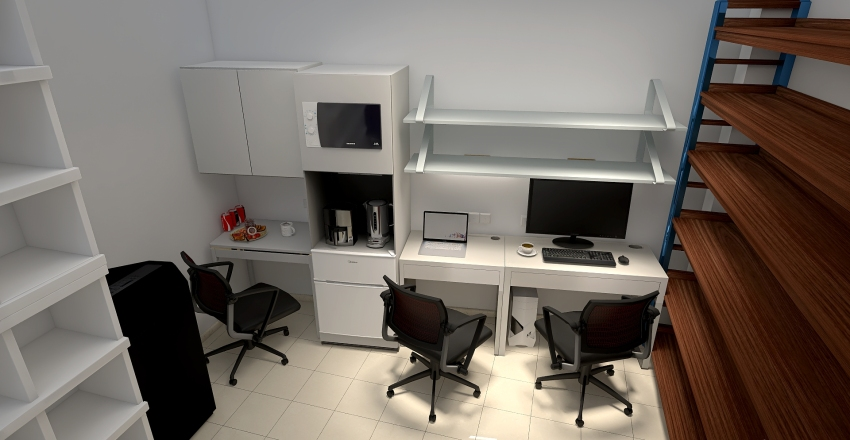 Lublin zaplecze V1 Interior Design Render