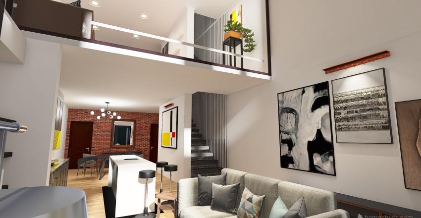 Row House Interior Design Render