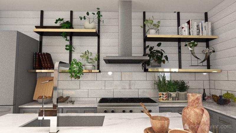 small family home Interior Design Render