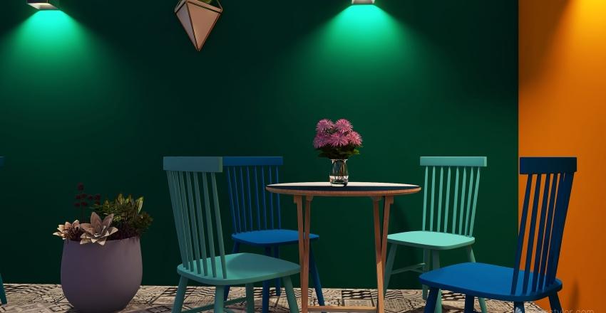 Patio SABA un descanso en un Centro de Arte .. Interior Design Render