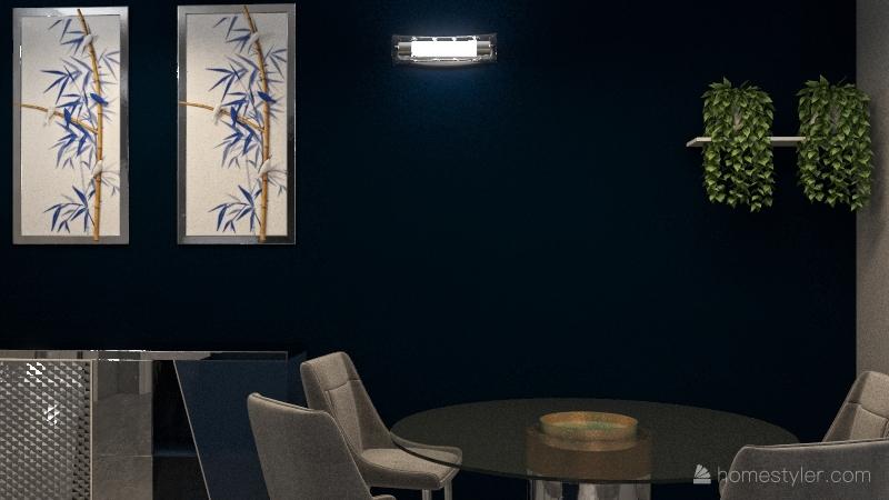 Copy of Restyling soggiorno pranzo Interior Design Render