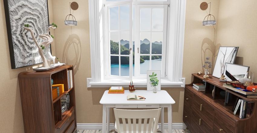 Stone Cottage Living Interior Design Render