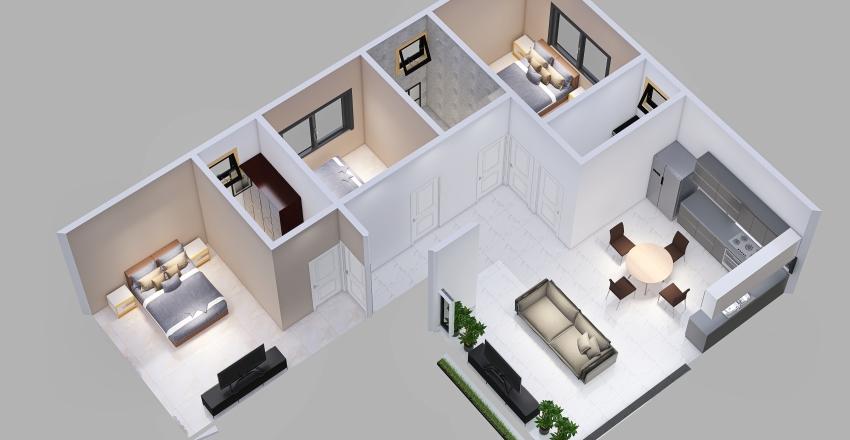 casa en L_copy Interior Design Render