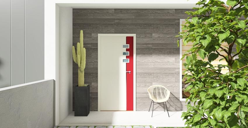 Modern Eco House Interior Design Render