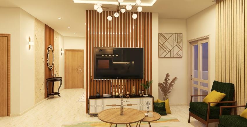 Roof House 2 Interior Design Render