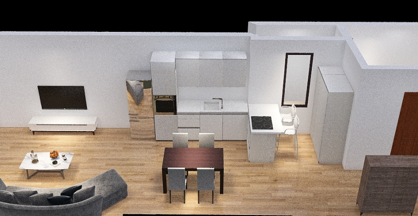 Kitchen idea 2 Interior Design Render