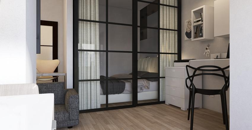 Studio for couple  Interior Design Render