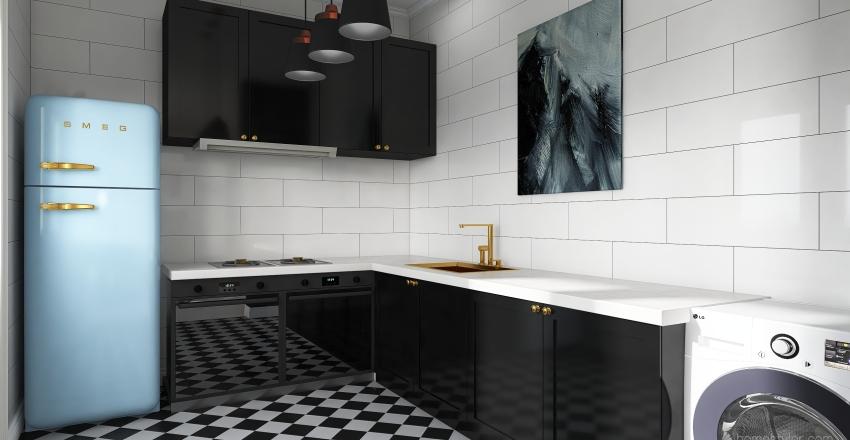 Apartamento pequeno Interior Design Render