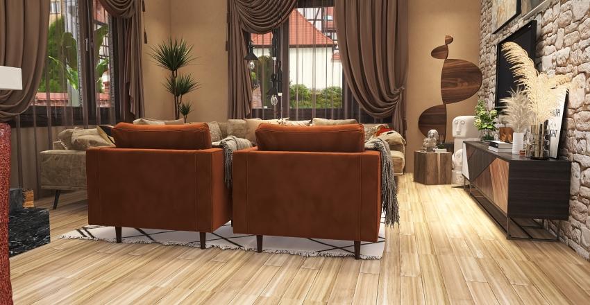 Atrium in earthy colors Interior Design Render
