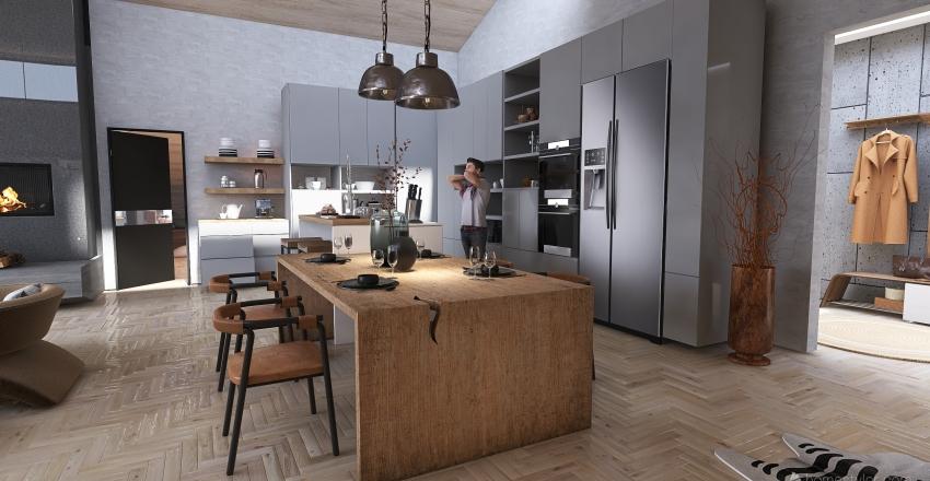 Casa de invierno Interior Design Render