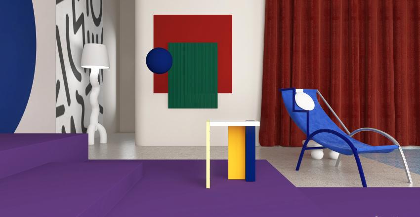 Memphis Style Demo Project Interior Design Render