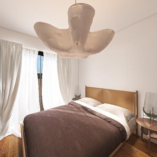 boho beach house Interior Design Render