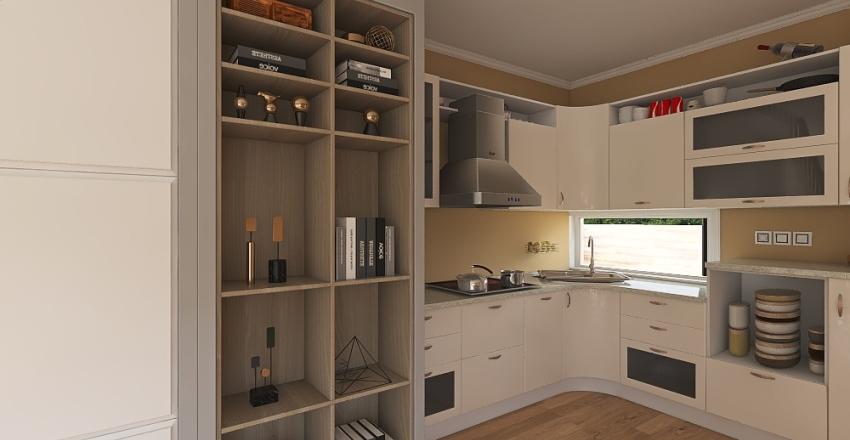 Casa pequeña de campo Interior Design Render