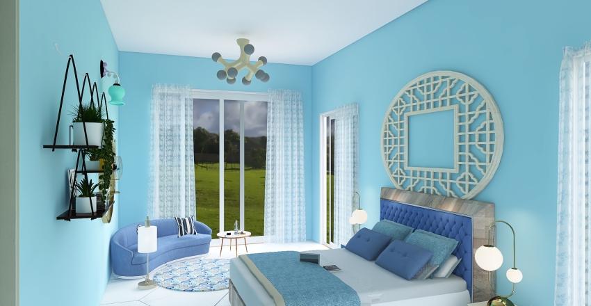 Blue House Interior Design Render