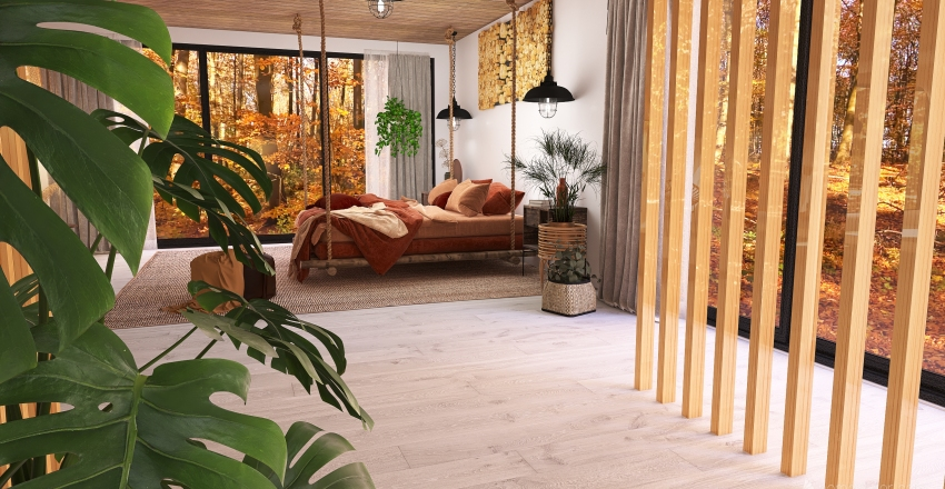 WOODY HOUSE Interior Design Render