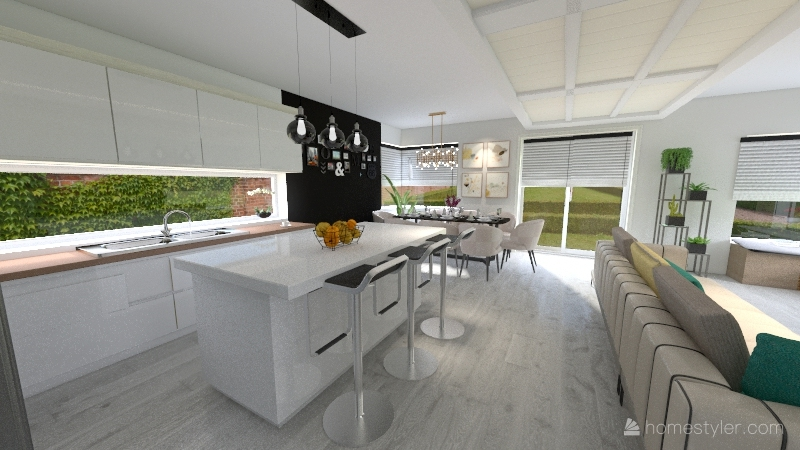 Dom Natalii i Piotrka Interior Design Render