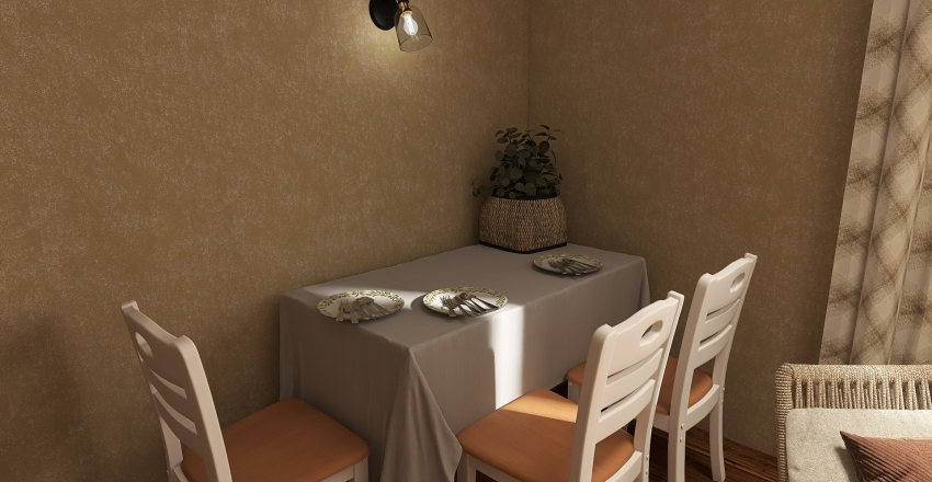 Old rest house Interior Design Render