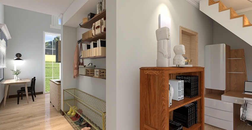 Tiny comfortable home Interior Design Render