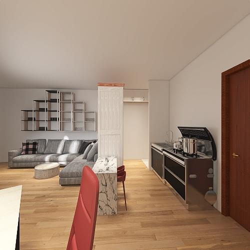 small Paris apt Interior Design Render