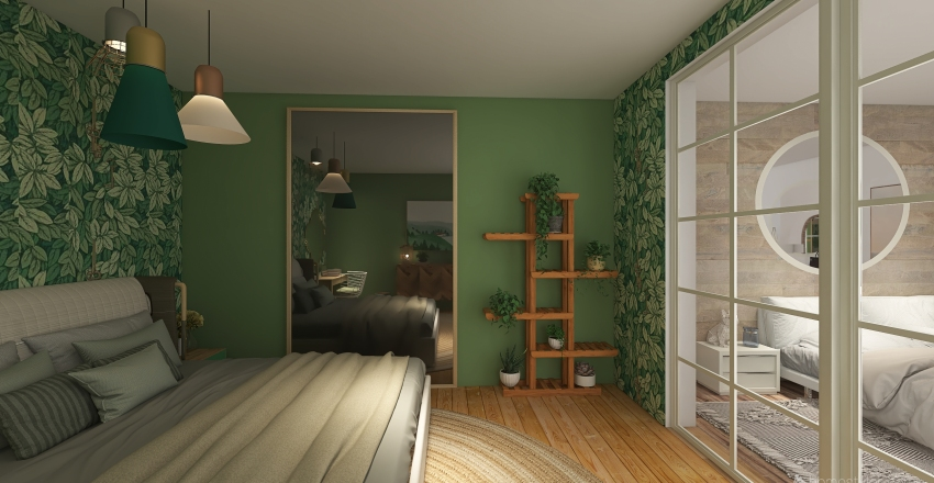 Dorm Like Apartment Interior Design Render