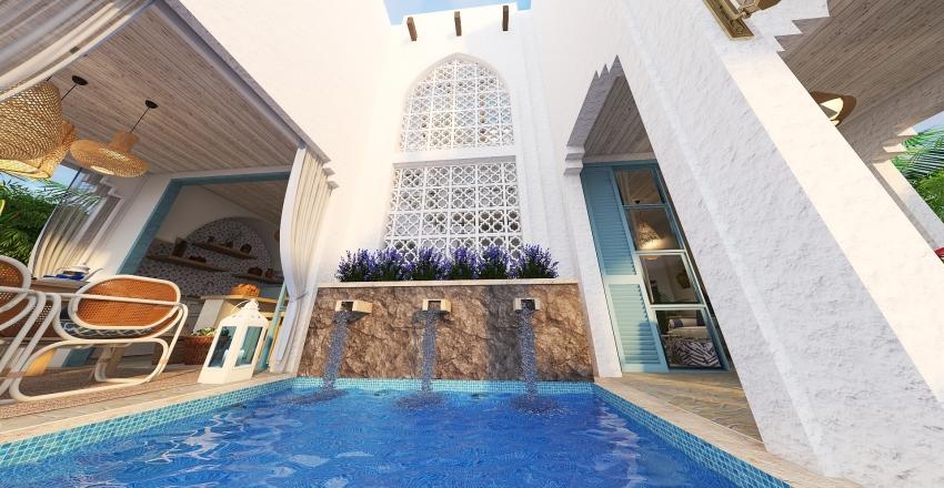 Beach House somewhere in the Persian Gulf Interior Design Render