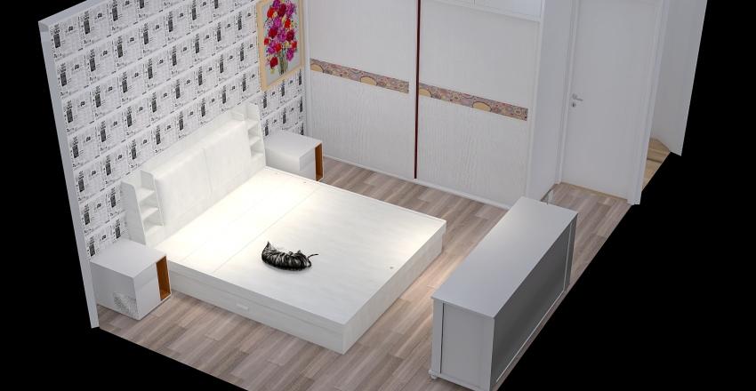 Разводка Спальня и коридор Interior Design Render