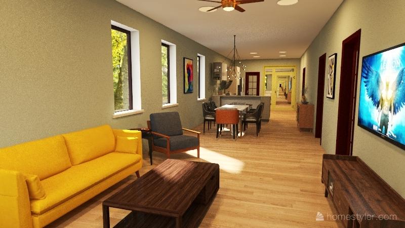 Shotgun Home Interior Design Render