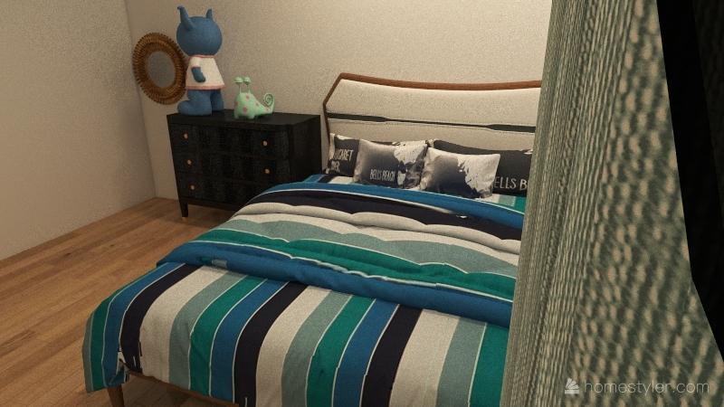 good bedroom Interior Design Render