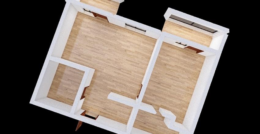 Copy of 3D построение стен двухкомн. Interior Design Render