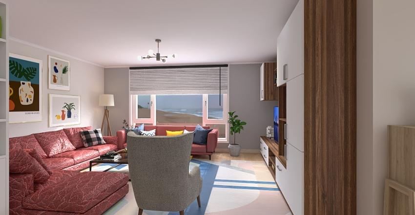 Chalet de ladrillos Interior Design Render