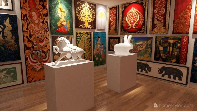 art museum Interior Design Render