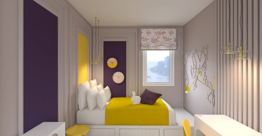 Copy of CHAMBRE FILLE2 Interior Design Render