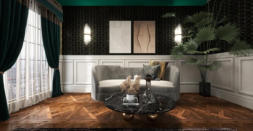 New York Masterbedroom Interior Design Render