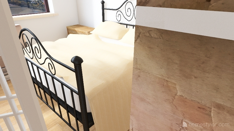 Plan 1 - Windsor 500 sq ft kitchen right Interior Design Render