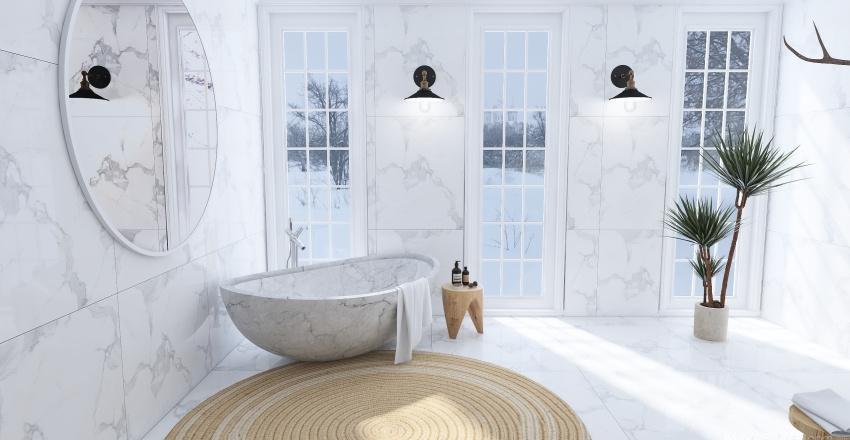 winter house Interior Design Render