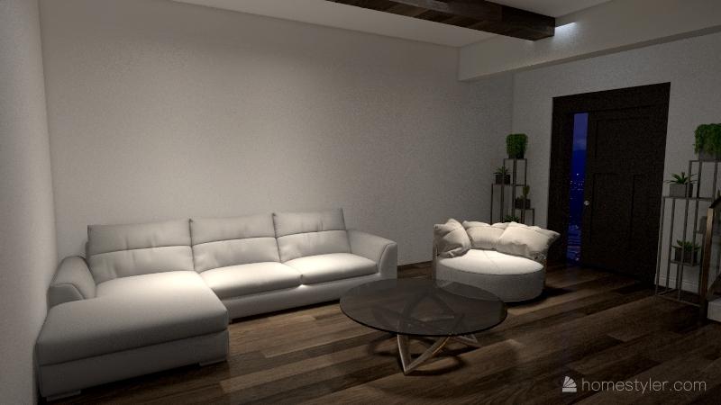 Dream Living Room Interior Design Render